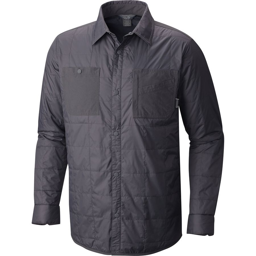 Mountain Hardwear Trekkin Insulated Shacket - Men's Shark アウトドア メンズ 男性用 シャツ ジャケット Flannel Shirts And Jackets