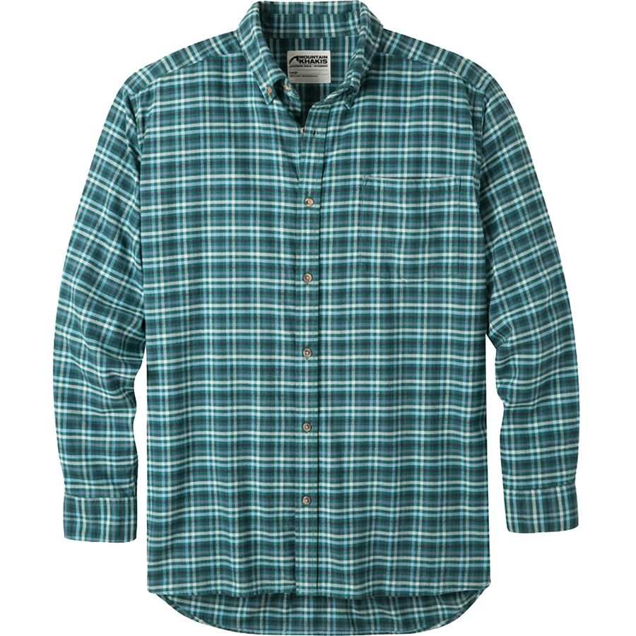 Mountain Khakis Downtown Flannel Shirt - Men's Deep Jade アウトドア メンズ 男性用 シャツ ジャケット Flannel Shirts And Jackets