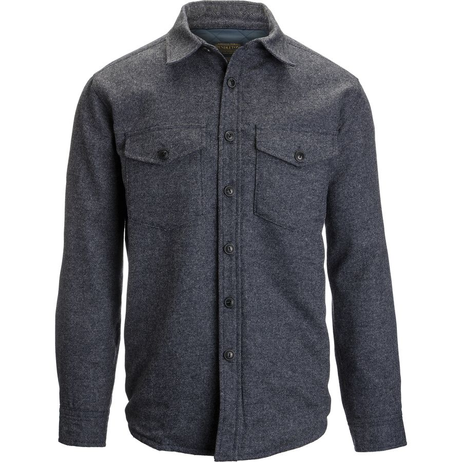 Pendleton Quilted CPO in Wool Shirt Jacket - Men's Navy Wooldenim アウトドア メンズ 男性用 シャツ ジャケット Flannel Shirts And Jackets