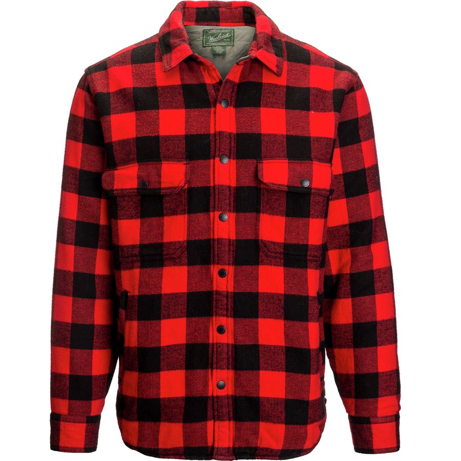 Woolrich Oxbow Bend Shirt Jacket - Men's Old Red Buffalo アウトドア メンズ 男性用 シャツ ジャケット Flannel Shirts And Jackets