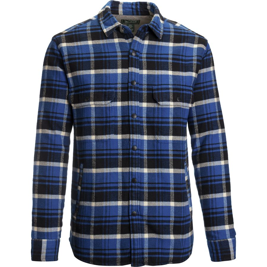 Woolrich Oxbow Bend Shirt Jacket - Men's Dark Cobalt アウトドア メンズ 男性用 シャツ ジャケット Flannel Shirts And Jackets