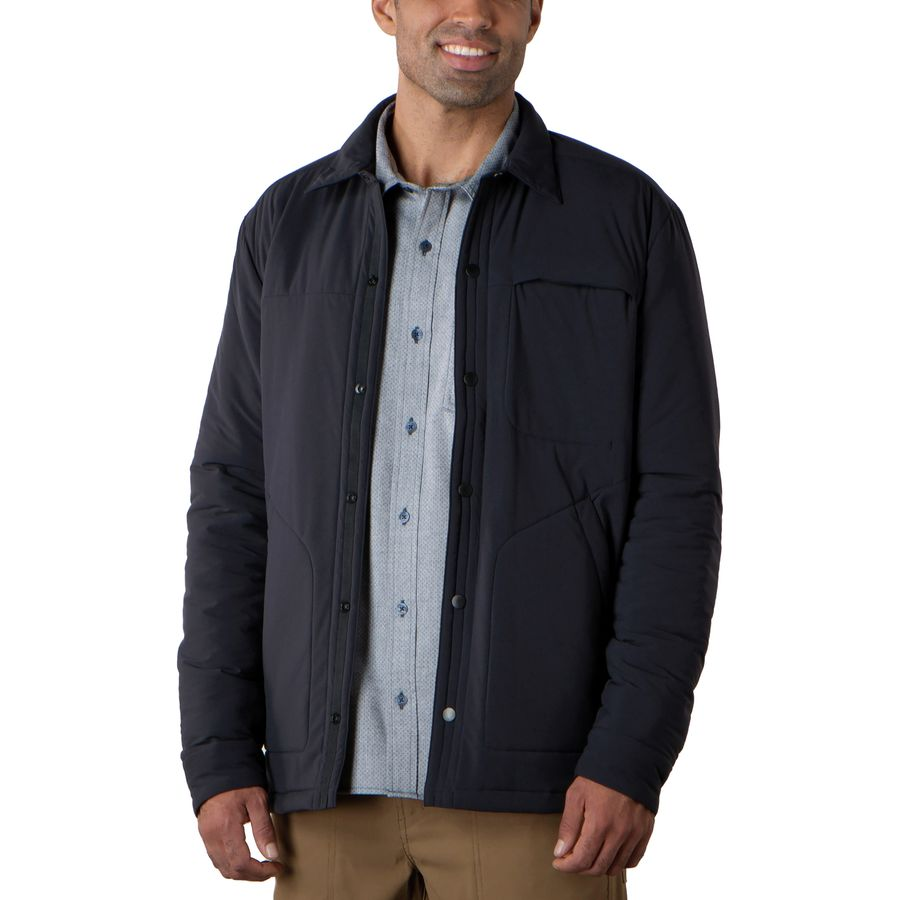 Toad&Co Aerium Shirt Jacket - Men's  Black アウトドア メンズ 男性用 シャツ ジャケット Flannel Shirts And Jackets
