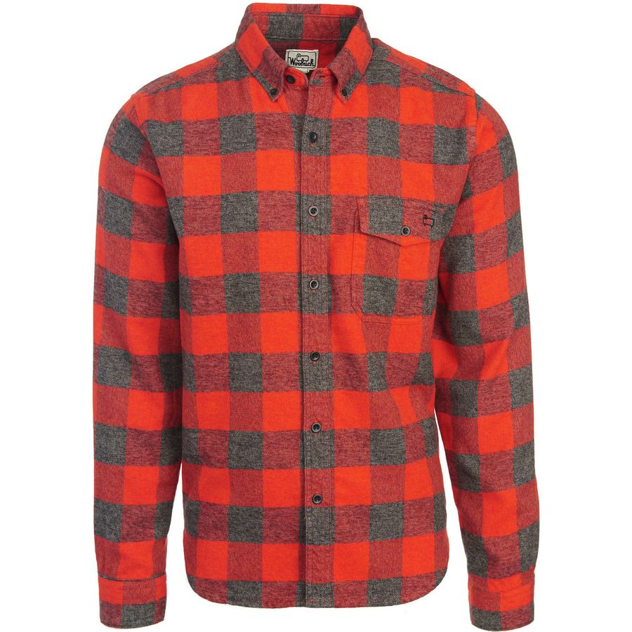 Woolrich Twisted Rich Flannel Shirt - Men's Old Red アウトドア メンズ 男性用 シャツ ジャケット Flannel Shirts And Jackets