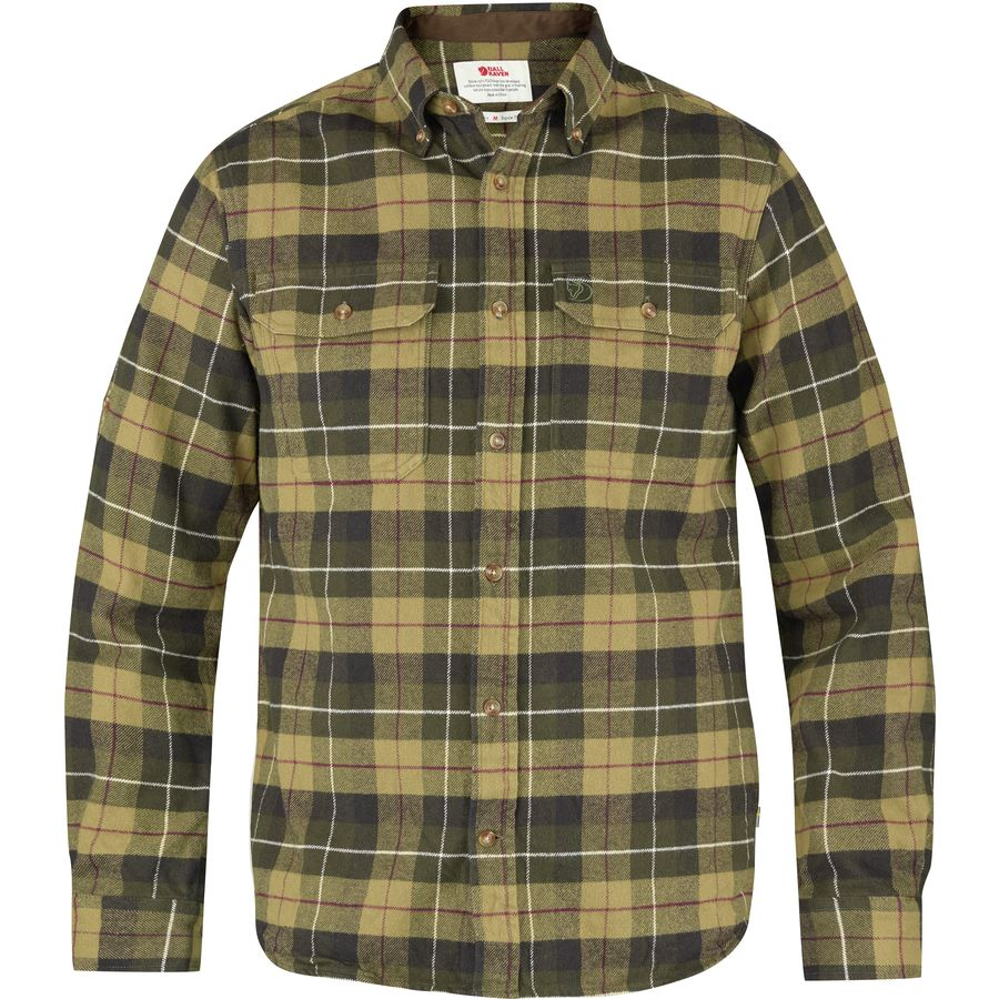 Fjallraven Singi Heavy Flannel Shirt - Long-Sleeve - Men's Green アウトドア メンズ 男性用 シャツ ジャケット Flannel Shirts And Jackets