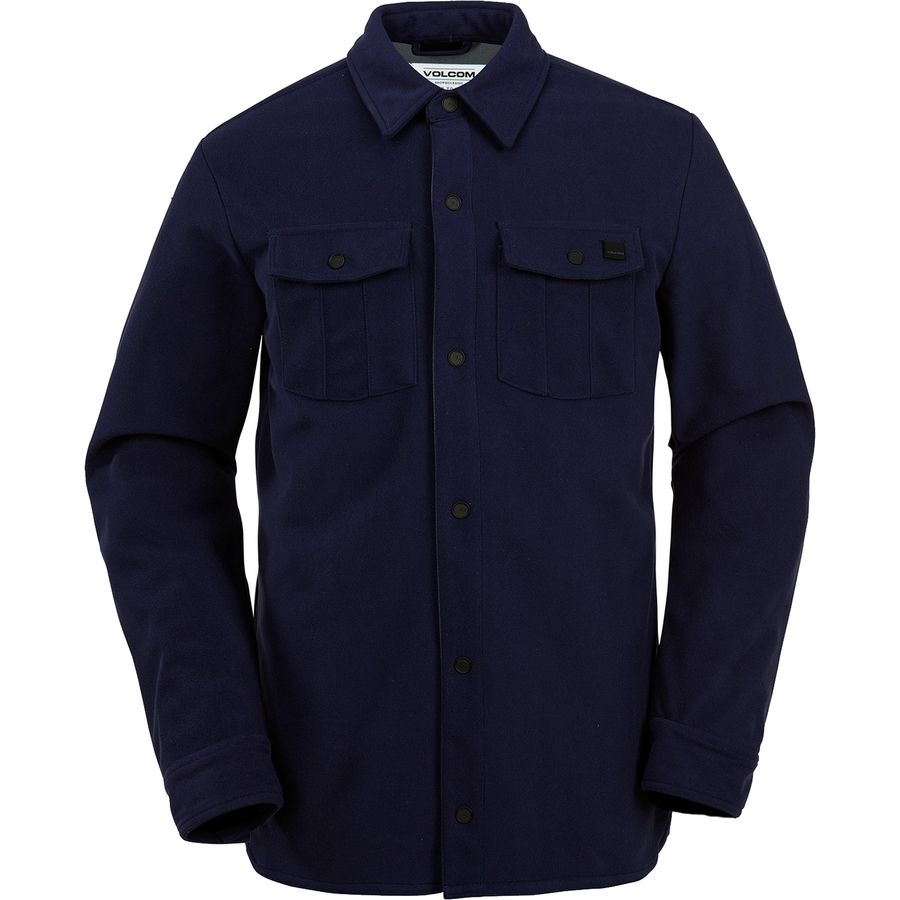 Volcom Drip Bonded Flannel Shirt - Men's Navy アウトドア メンズ 男性用 シャツ ジャケット Flannel Shirts And Jackets