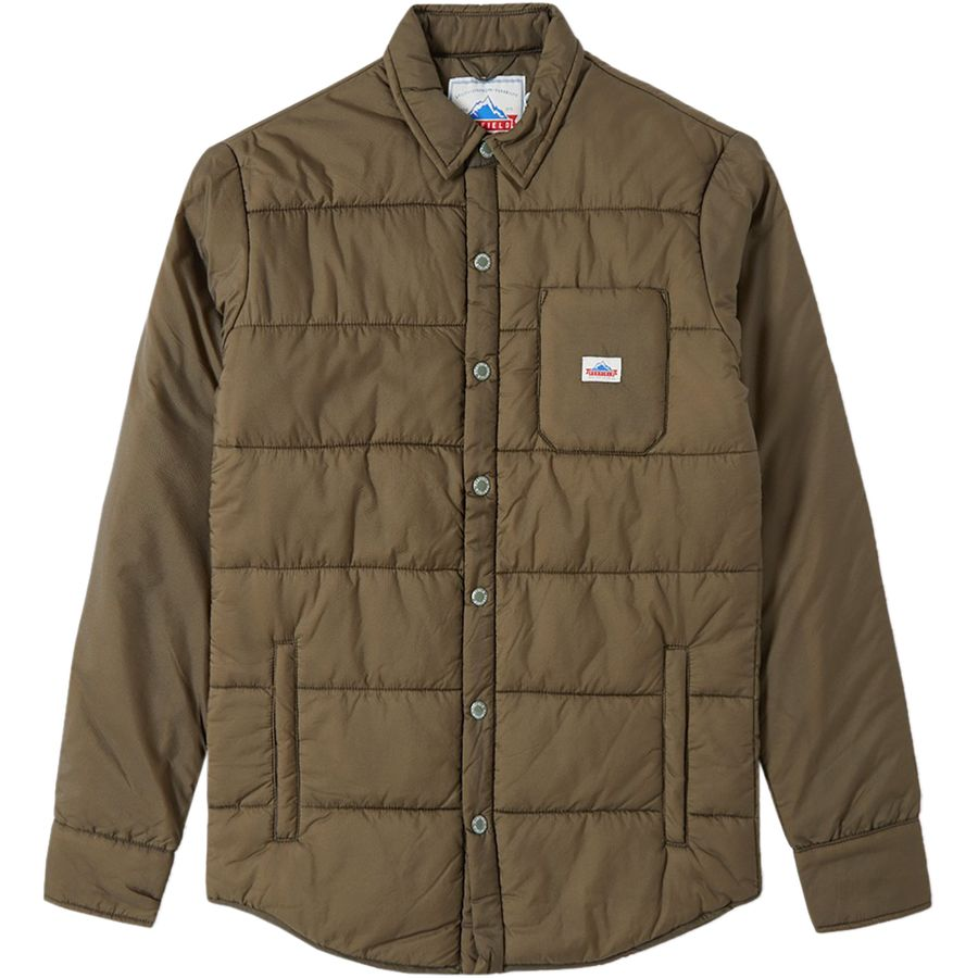 Penfield Albright Insulated Shirt Jacket - Men's Olive アウトドア メンズ 男性用 シャツ ジャケット Flannel Shirts And Jackets