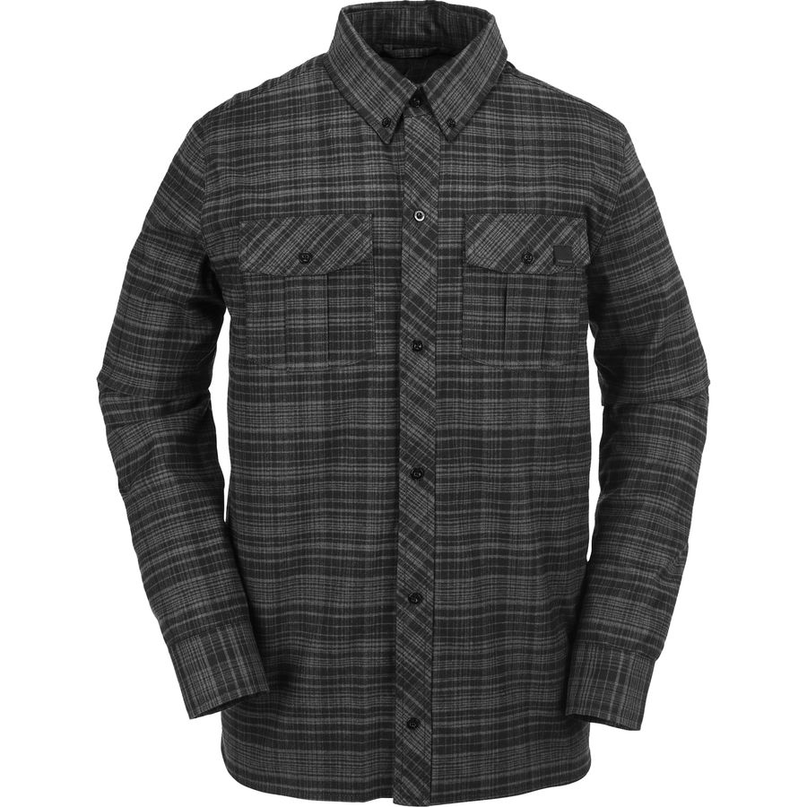 Volcom Simons Insulated Flannel Jacket - Men's Black アウトドア メンズ 男性用 シャツ ジャケット Flannel Shirts And Jackets