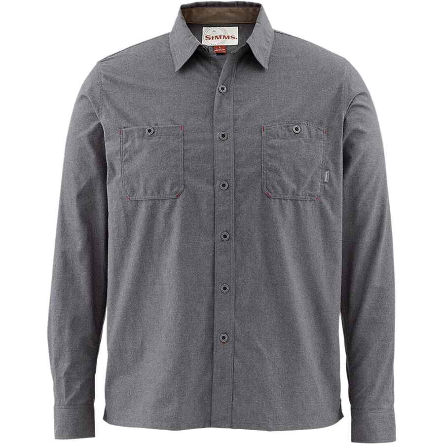Simms Black's Ford Long-Sleeve Flannel Shirt - Men's Nightfall アウトドア メンズ 男性用 シャツ ジャケット Flannel Shirts And Jackets