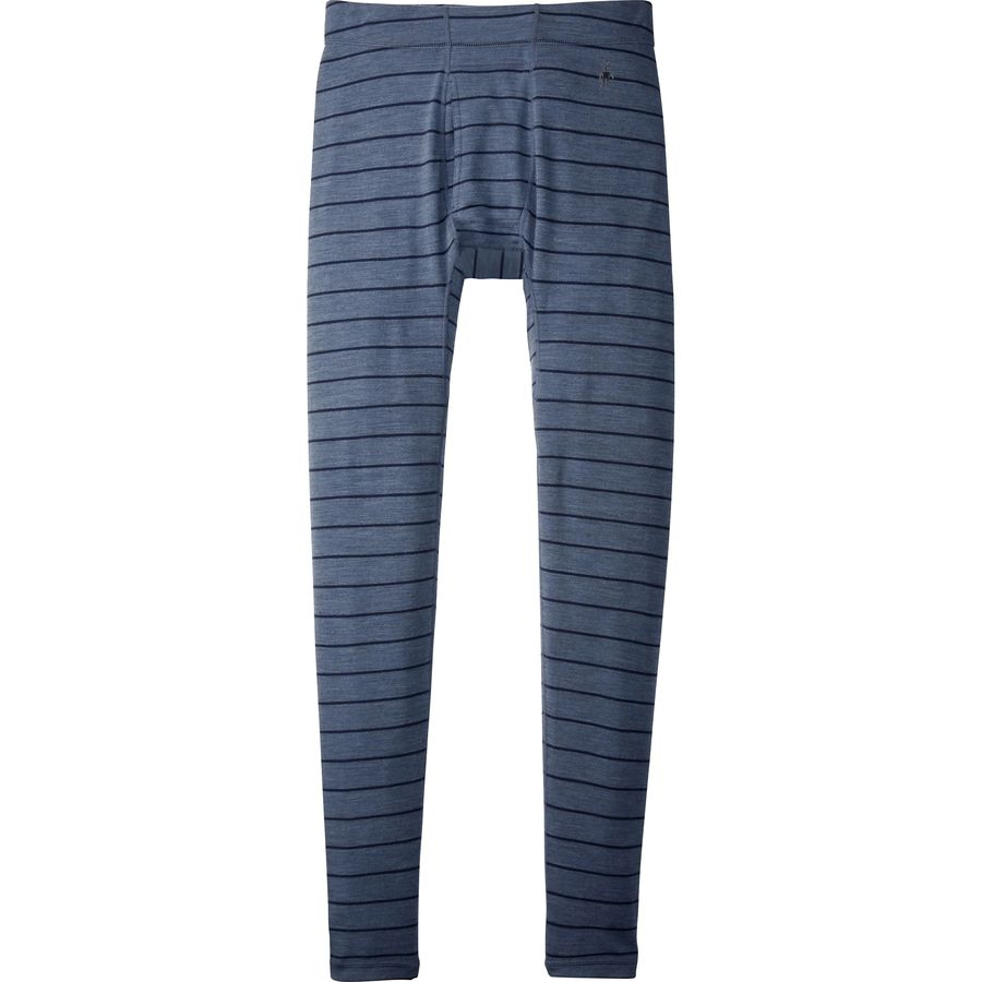 SmartWool NTS Mid 250 Pattern Bottom - Men's Dark Blue Steel Heather アウトドア メンズ 男性用 ロングアンダーウェア Long Underwear