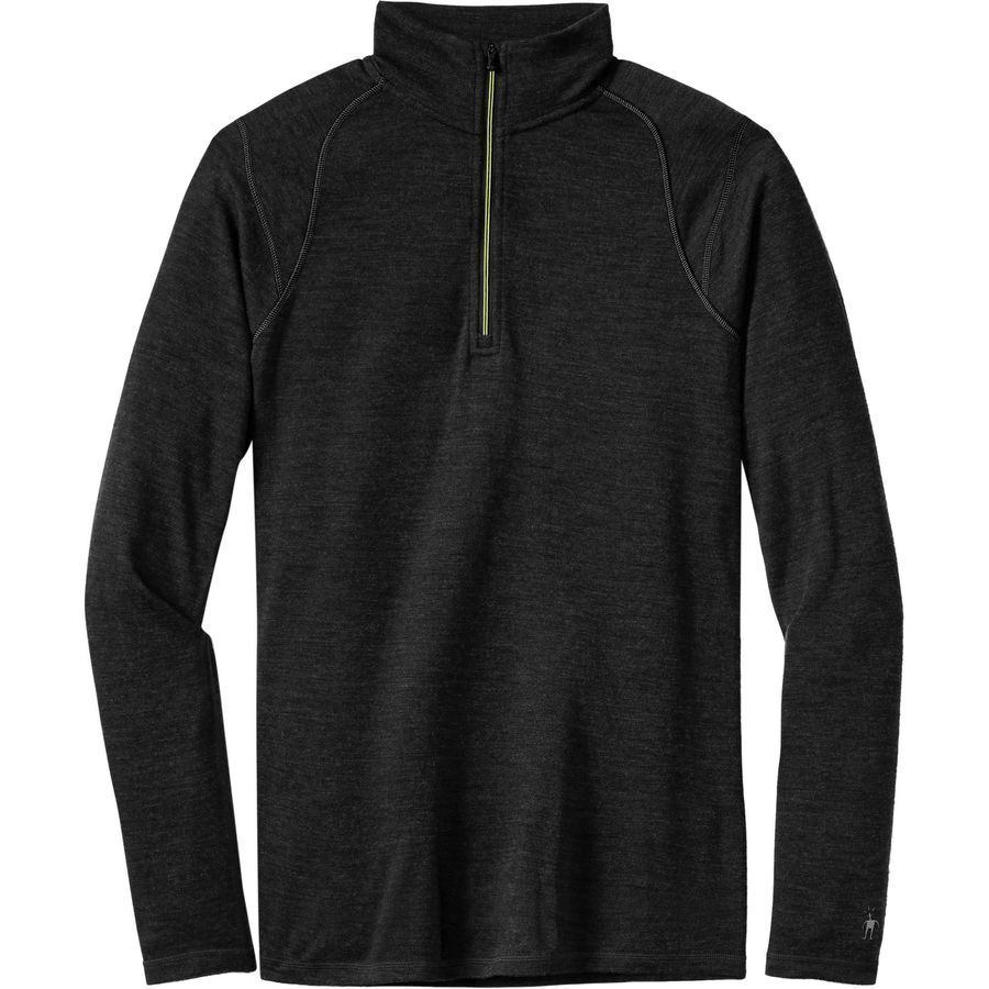 SmartWool NTS Midweight Zip Top - Men's Charcoal Heather アウトドア メンズ 男性用 ロングアンダーウェア Long Underwear