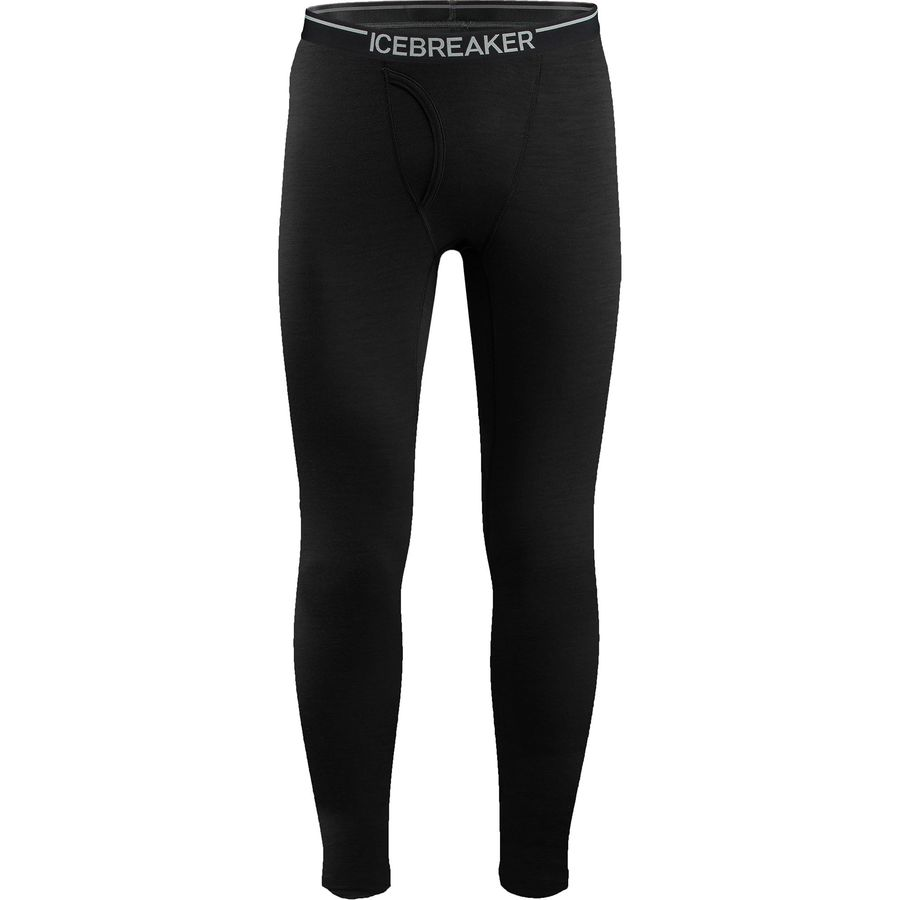 Icebreaker Bodyfit 200 Lightweight Oasis Leggings with Fly - Men's Black アウトドア メンズ 男性用 ロングアンダーウェア Long Underwear