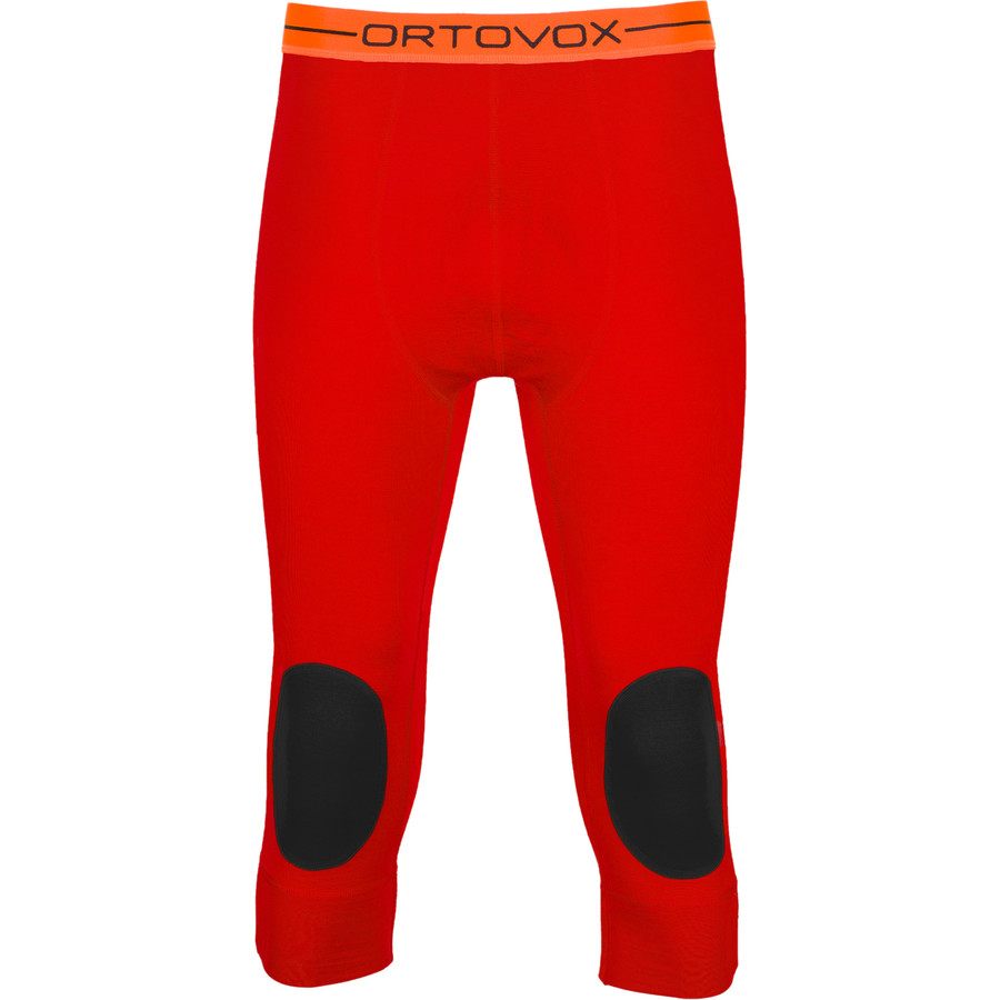 Ortovox 185 Rock'N'Wool Short Pant - Men's Crazy Orange アウトドア メンズ 男性用 ロングアンダーウェア Long Underwear