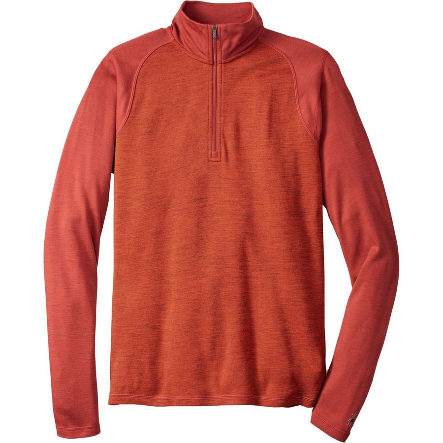 SmartWool Merino 250 1 4-Zip Pattern Top - Men's Moab Rust Heather アウトドア メンズ 男性用 ロングアンダーウェア Long Underwear