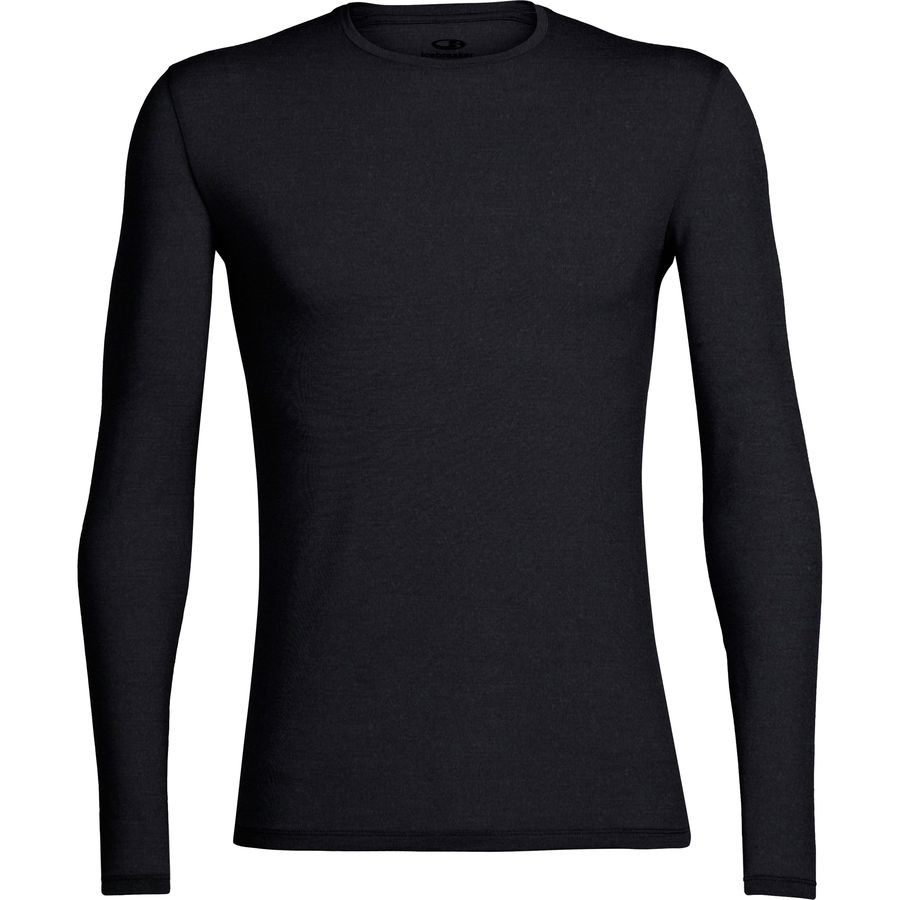 Icebreaker BodyFit 150-Ultralight Anatomica Crew - Men's Black Monsoon アウトドア メンズ 男性用 ロングアンダーウェア Long Underwear