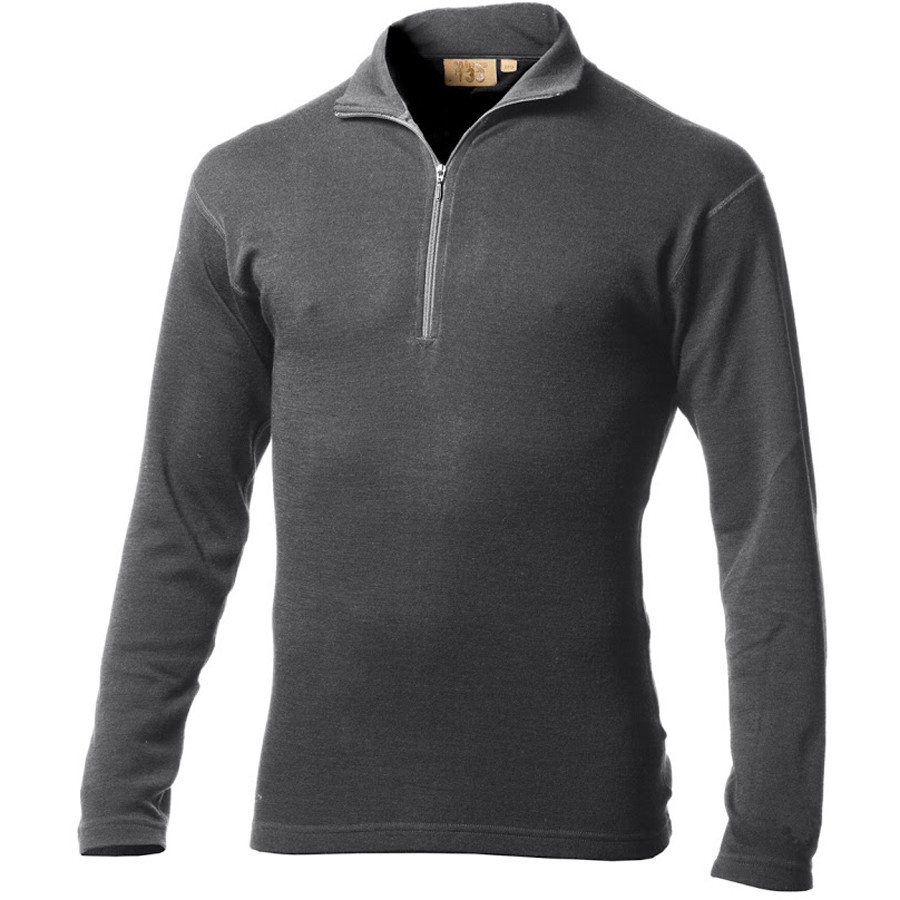 Minus 33 Isolation Midweight Zip-Neck Top - Men's Charcoal Grey アウトドア メンズ 男性用 ロングアンダーウェア Long Underwear