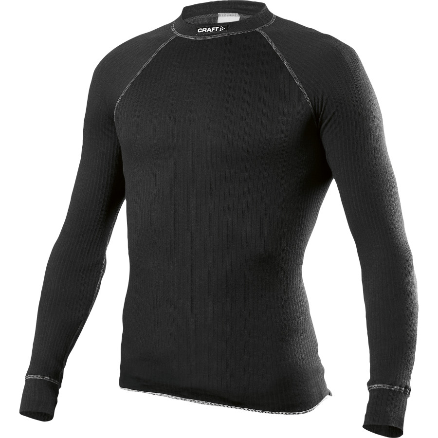 Craft Active Crewneck Base Layer - Long-Sleeve - Men's Black アウトドア メンズ 男性用 ロングアンダーウェア Long Underwear