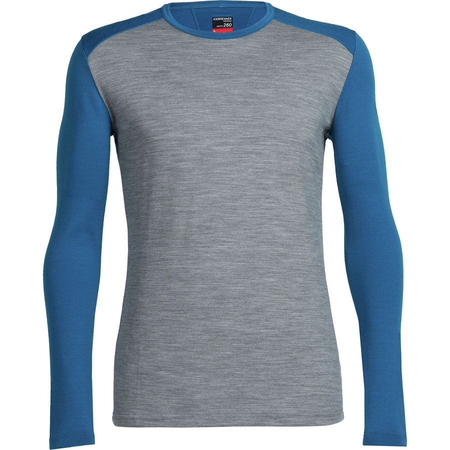Icebreaker Bodyfit 260 Midweight Tech Top Crewe - Men's Metro Heather Alpine Alpine アウトドア メンズ 男性用 ロングアンダーウェア Long Underwear