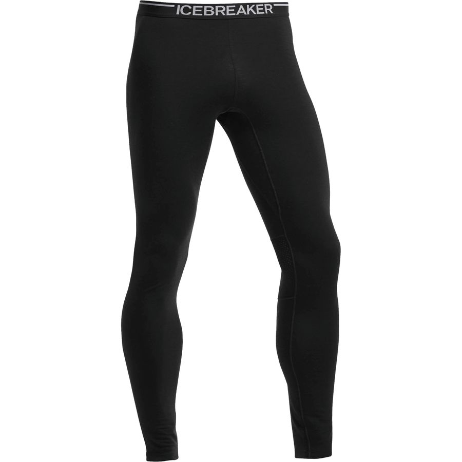Icebreaker Bodyfit 200 Lightweight Zone Leggings - Men's Black Monsoon Black アウトドア メンズ 男性用 ロングアンダーウェア Long Underwear