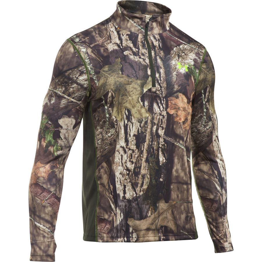Under Armour Scent Control Nutech 1 4-Zip Top - Men's Mossy Oak Open Count Velocity アウトドア メンズ 男性用 ロングアンダーウェア Long Underwear