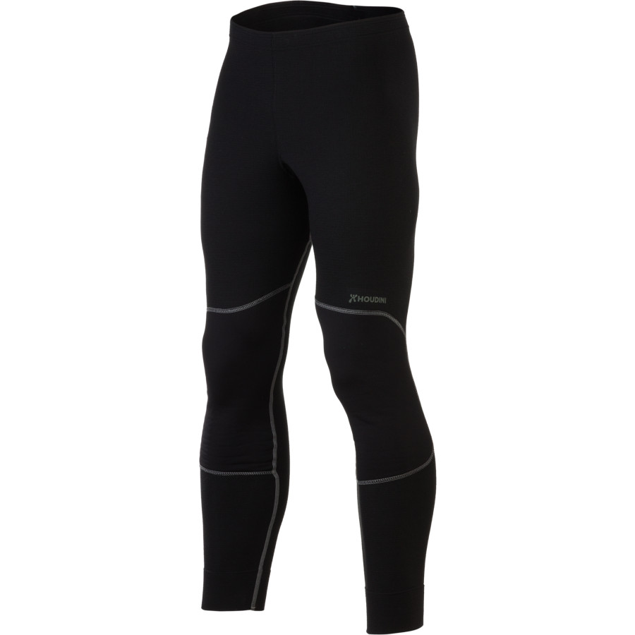 Houdini Alpha Long John Bottom - Men's True Black True Black アウトドア メンズ 男性用 ロングアンダーウェア Long Underwear