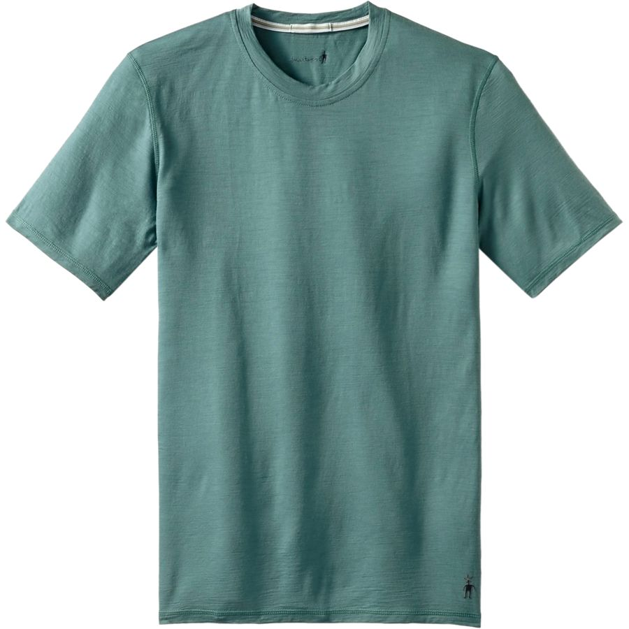 SmartWool NTS Micro 150 T-Shirt - Short-Sleeve - Men's Sea Pine アウトドア メンズ 男性用 ロングアンダーウェア Long Underwear