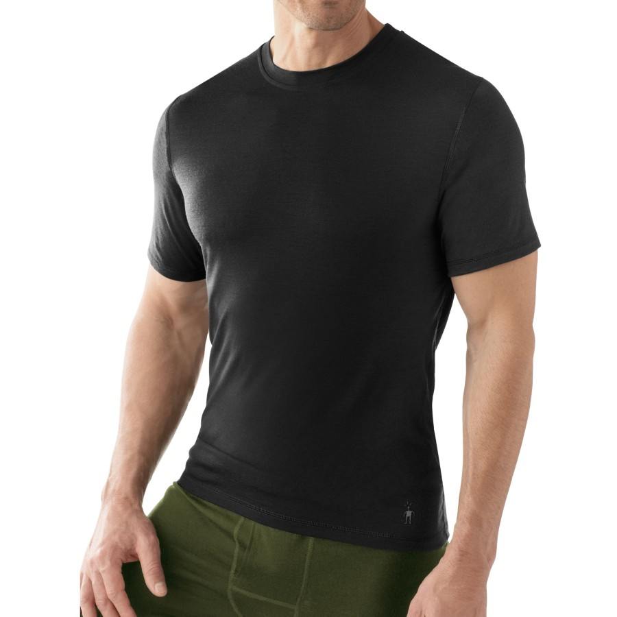 SmartWool NTS Micro 150 T-Shirt - Short-Sleeve - Men's Black アウトドア メンズ 男性用 ロングアンダーウェア Long Underwear