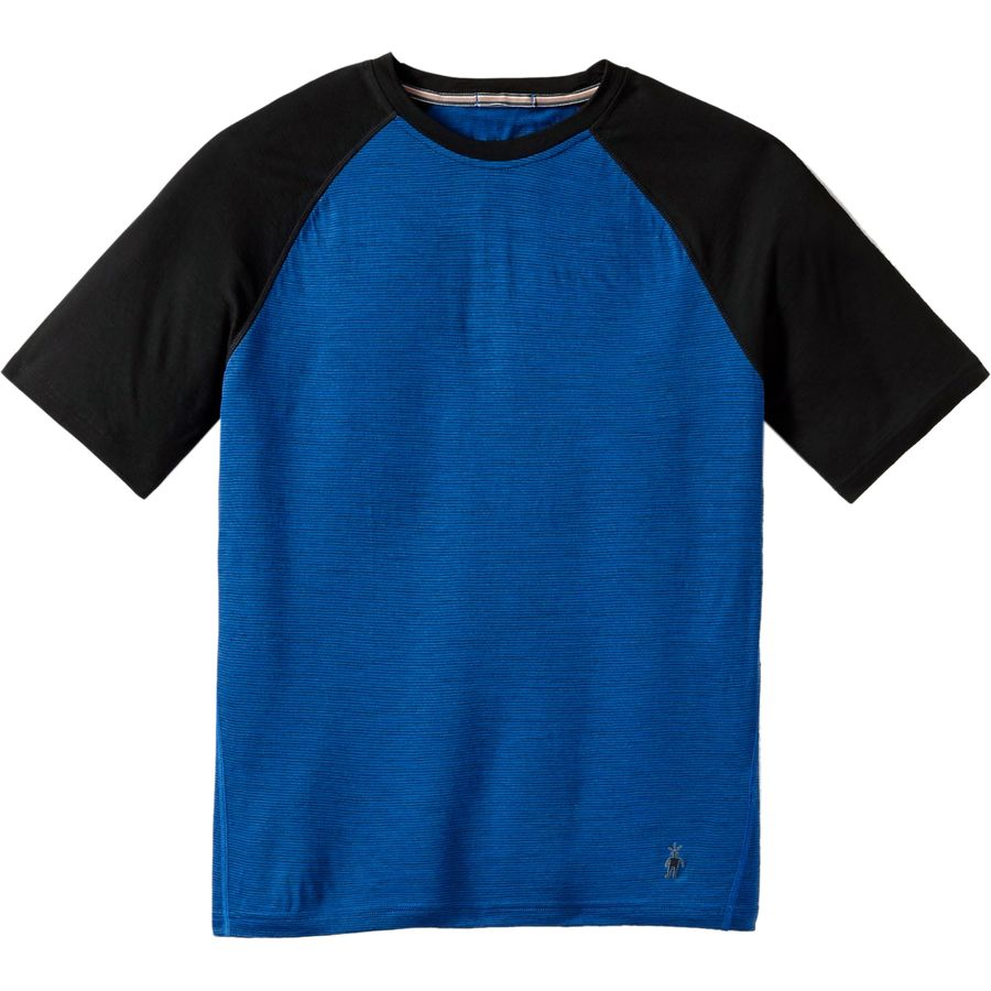 SmartWool Micro 150 Combo T-Shirt - Short-Sleeve - Men's Bright Blue アウトドア メンズ 男性用 ロングアンダーウェア Long Underwear