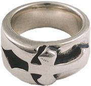 ビルウォールレザー BWL Bill Wall Leather R312 インランド クロスリング 指輪 シルバー カスタム ハンドクラフト