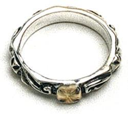 ビルウォールレザー BWL Bill Wall Leather R203 18K シンクロスリング 指輪 シルバー 18金 カスタム ハンドクラフト
