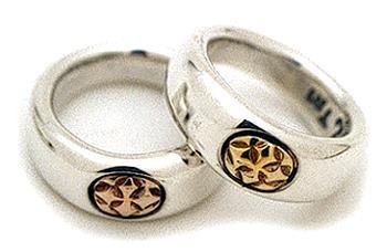 ビルウォールレザー BWL Bill Wall Leather R228 18K スムースCクロスリング 指輪 シルバー カスタム ハンドクラフト