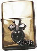 ビルウォールレザー BWL Bill Wall Leather ZL119 ブラス ピースハート ZIPPO ライター zippo 真鍮 カスタム タバコ 煙草