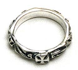 ビルウォールレザー BWL Bill カスタム シルバー Wall Leather R202 シンクロスリング 指輪 シルバー Wall カスタム ハンドクラフト, 鴨方町:0277005b --- integralved.hu
