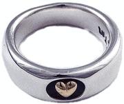 ビルウォールレザー BWL Bill Wall Leather R306 18K ハート スムースリング 指輪 シルバー カスタム ハンドクラフト