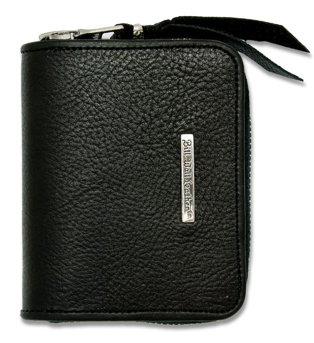 ビルウォールレザー BWL Bill Wall Leather W963 コインジッパー スモール ブラックレザー ウォレット 財布 シルバー カスタム ハンドクラフト 革