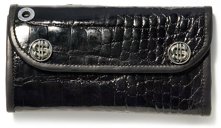 ビルウォールレザー BWL Bill Wall Leather Large Currency Alligator Bill Wall Fine Leather Hand Crafted Wallets