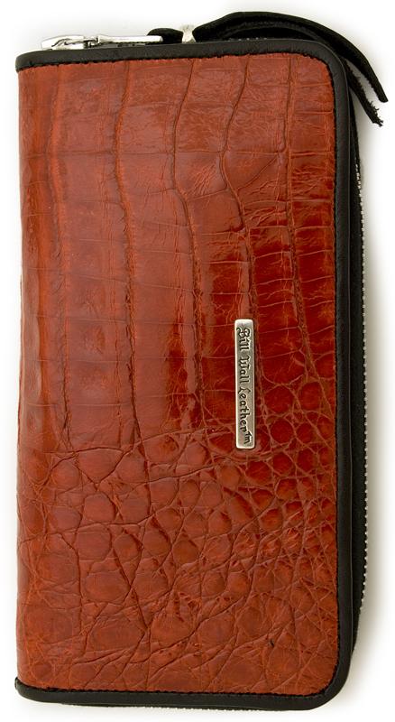 ビルウォールレザー BWL Bill Wall Leather W968 アリゲーター ジッパー ウォレット 財布 シルバー カスタム ハンドクラフト