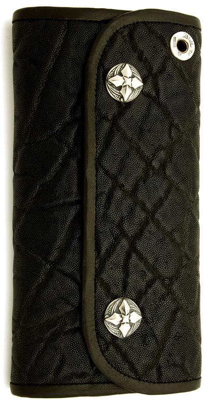 ビルウォールレザー BWL Bill Wall Leather W972 ハイブリッド ラージ エレファント ウォレット 財布 シルバー カスタム ハンドクラフト 象 革