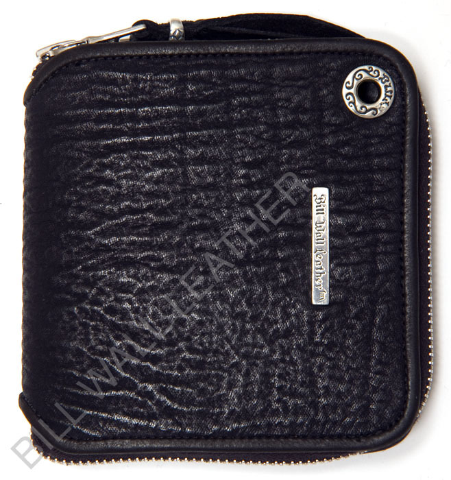 ビルウォールレザー BWL Bill Wall Leather W959- Square Zipper Wallet - Shark Bill Wall Fine Leather Hand Crafted Wallets
