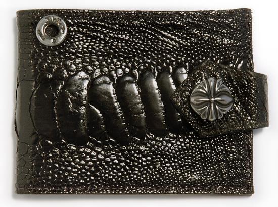 ビルウォールレザー BWL Bill Wall Leather W924O オーストリッチレッグ スパイダースナップ ウォレット 財布 シルバー カスタム ハンドクラフト 革