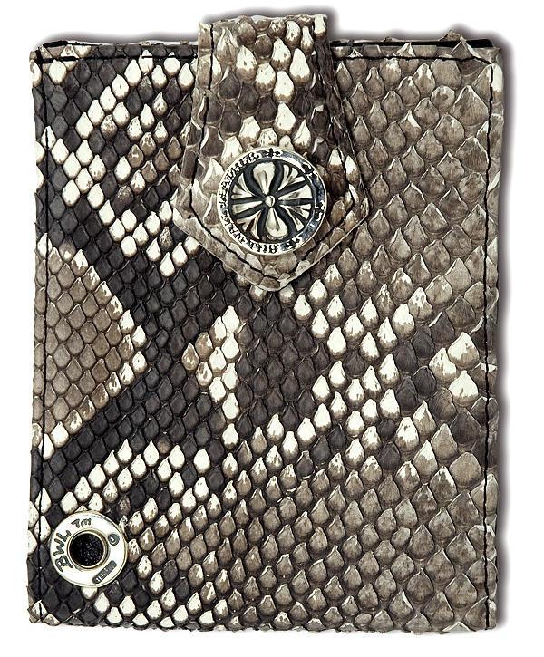 ビルウォールレザー BWL Bill Wall Leather W924O パイソン スパイダースナップ ウォレット 財布 シルバー カスタム ハンドクラフト 革