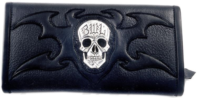 【マラソン全品P5倍】ビルウォールレザー BWL Bill Wall Leather Skull w Tribal Ltd. Bill Wall Fine Leather Hand Crafted Wallets