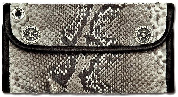 ビルウォールレザー BWL Bill Wall Leather W942 ラージカレンシー パイソン ウォレット 財布 シルバー カスタム ハンドクラフト 革