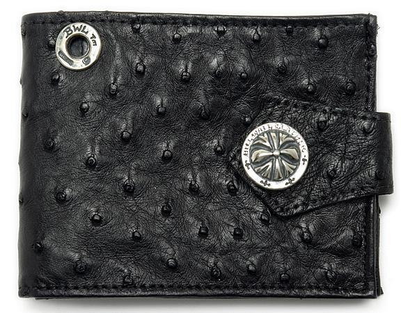 ビルウォールレザー BWL Bill Wall Leather W924O オストリッチ スパイダースナップ ウォレット 財布 シルバー カスタム ハンドクラフト 革