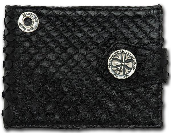 ビルウォールレザー BWL Bill Wall Leather W944 アナコンダ スパイダースナップ ウォレット 財布 シルバー カスタム ハンドクラフト 革