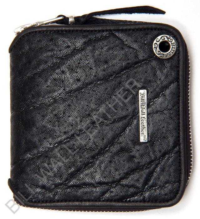 ビルウォールレザー BWL Bill Wall Leather W960 スクウェア エレファントレザー ジッパーウォレット 財布 シルバー カスタム ハンドクラフト 革