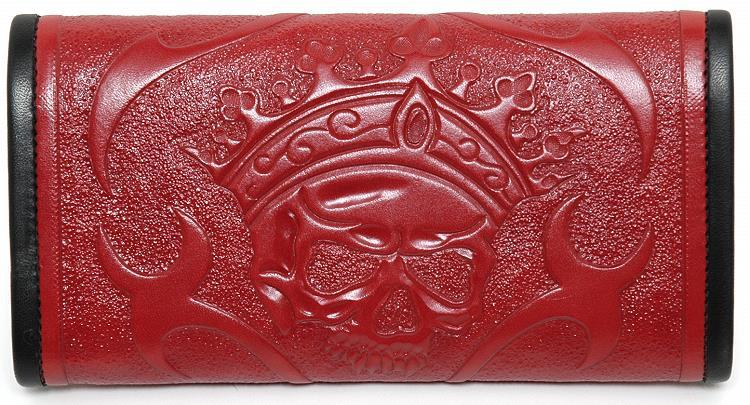 ビルウォールレザー BWL Wall Bill Wall Leather Tooled Skull Tooled Red Leather Bill Wall Fine Leather Hand Crafted Wallets, 湯津上村:c5d711e3 --- integralved.hu