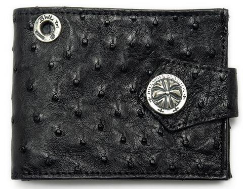 正規品 ビルウォールレザー BILL WALL LEATHER BWL ウォレット 財布 黒 オーストリッチ