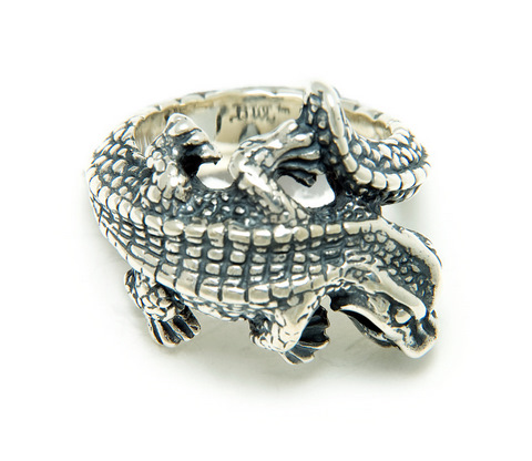 正規品 ビルウォールレザー BILL WALL LEATHER BWL リング 指輪 指輪 R402 - Small Alligator リング