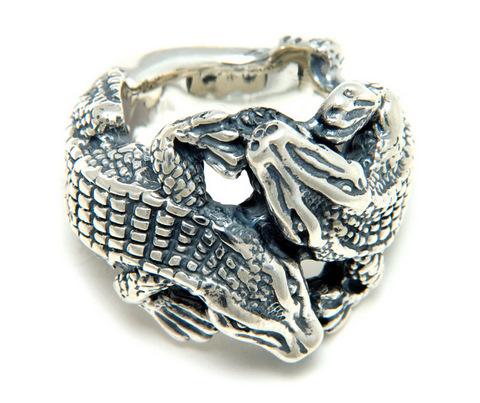 正規品 ビルウォールレザー BILL WALL LEATHER BWL リング 指輪 指輪 R405 - Kissing Alligator