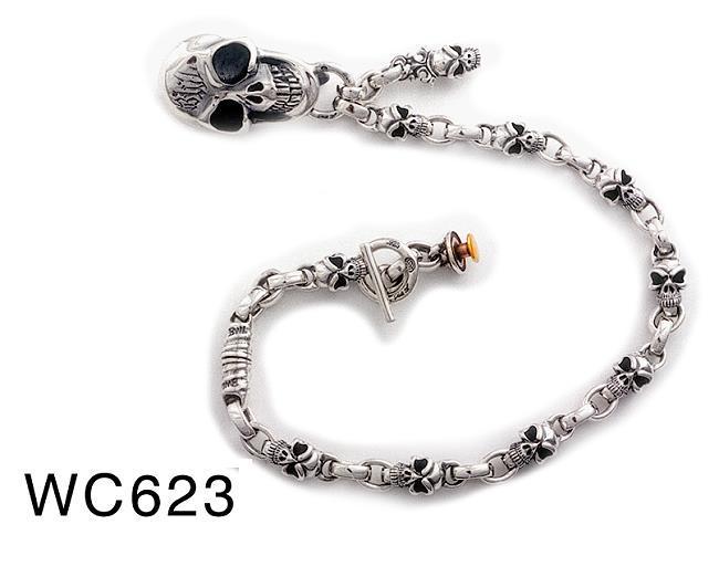 ビルウォールレザー BWL Bill Wall Leather Half Skull Chain w Skull Clip Bill Walls Ultimate Custom Accessorie the Wallet Chain